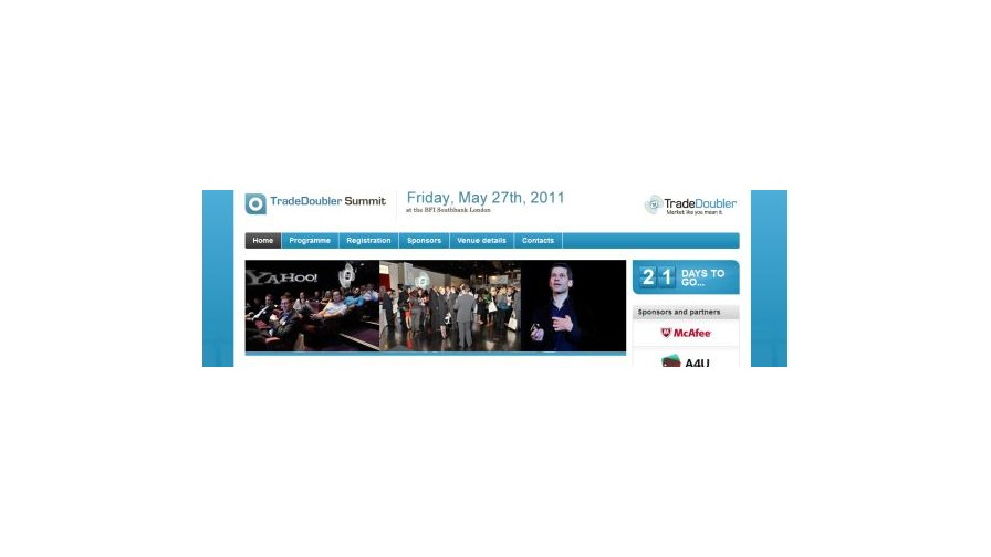 A4u Media Partners for TradeDoubler Summit 2011 - 27th May