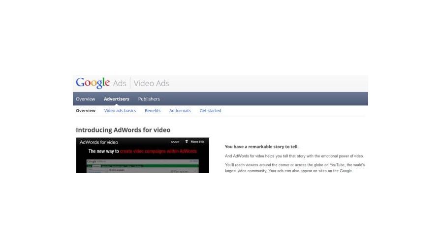 Google Adwords for video available to all