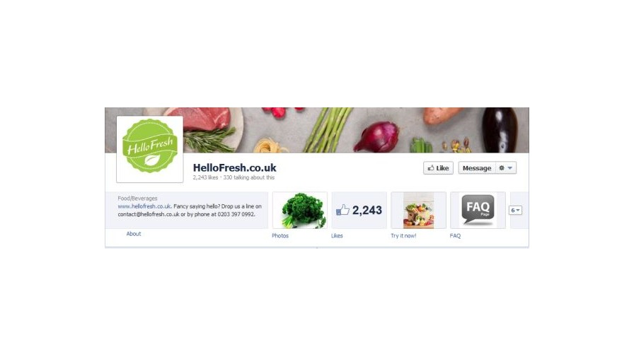 Hello Fresh among first adopters of Offers, Facebook's new promotion service