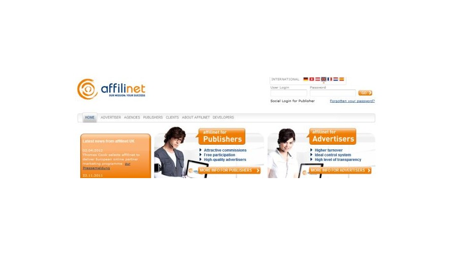 affilinet parent reports successful start to 2012