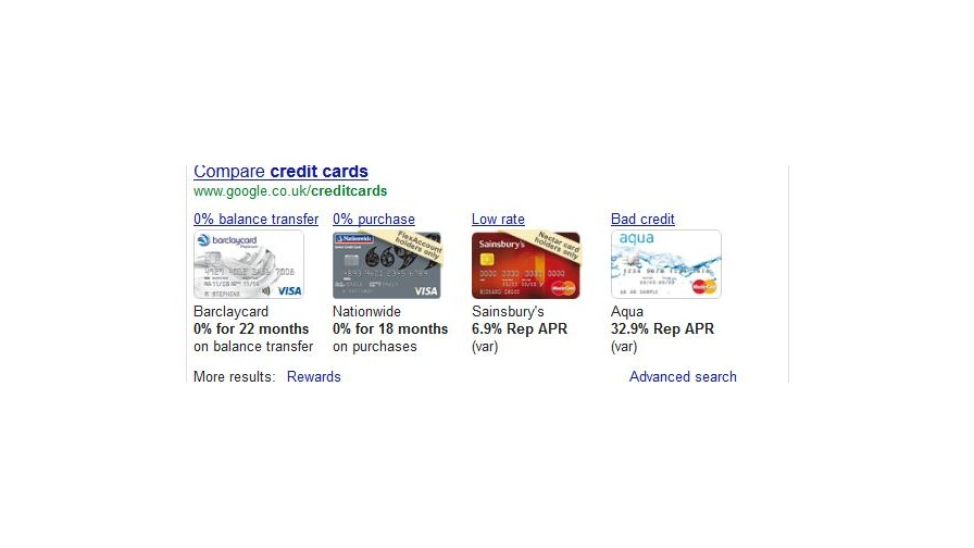 Google launches financial comparison ads