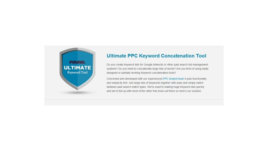 Found's new free PPC keyword tool