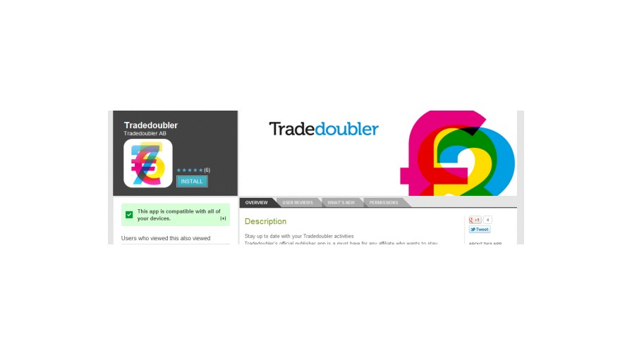 Tradedoubler launches Mobile Affiliate app for 'on-the-go' stats checking