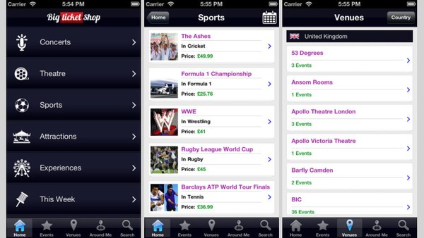 Ticket Comparison Publisher Launches App