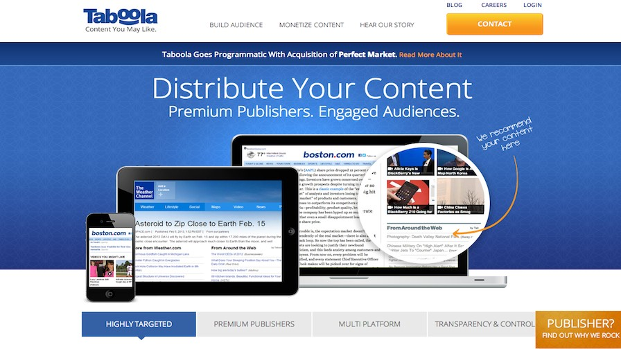 Taboola Seeks to Dominate Page Presence with Deal for Perfect Market