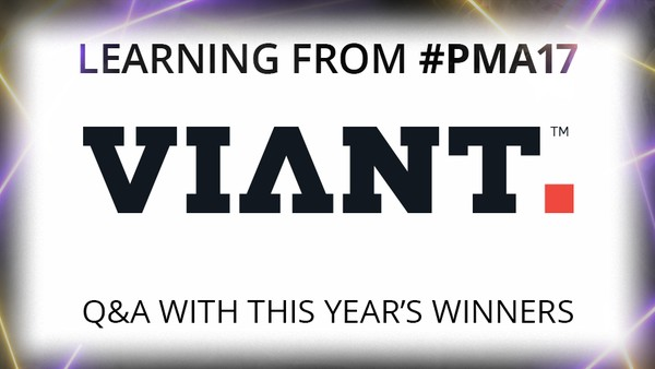 Learning from PMA 17: How Viant Won Best PM Tech with People-Based Marketing